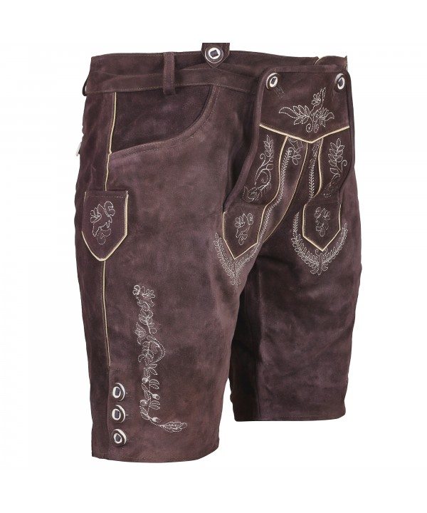 Trachten Authentic Lederhosen Chocolate Brown