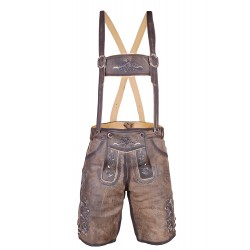 Bavarian Short German Lederhosen Dark Brown