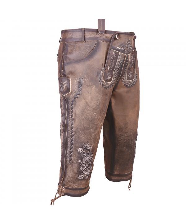 Knee Long Bundhosen Dark Brown