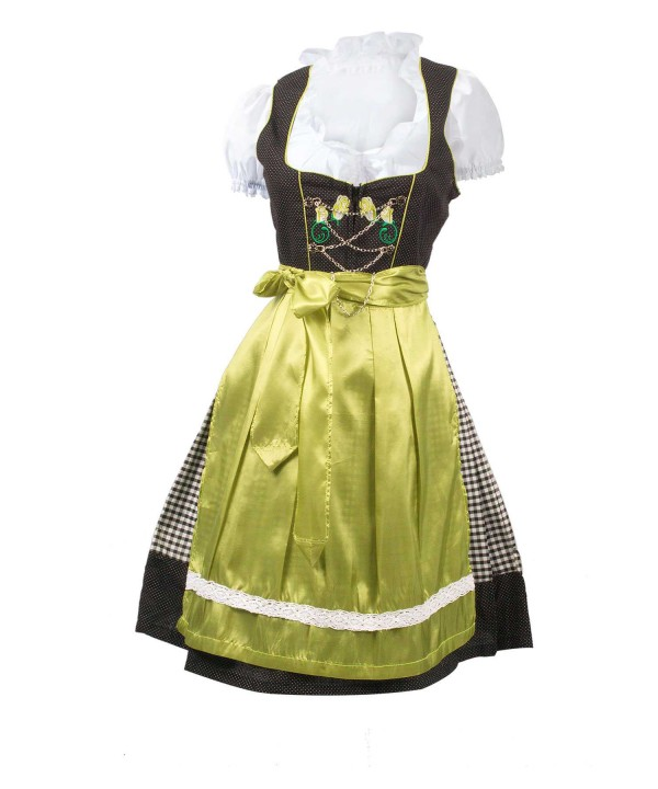 German Dirndl Dress Vintage Green