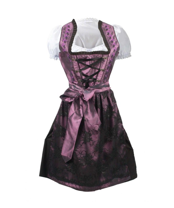 German Traditional Dirndl Dress Purple