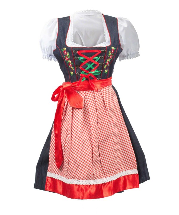 Vintage Dirndl Dress Royal Blue 2 Way Flip Apron