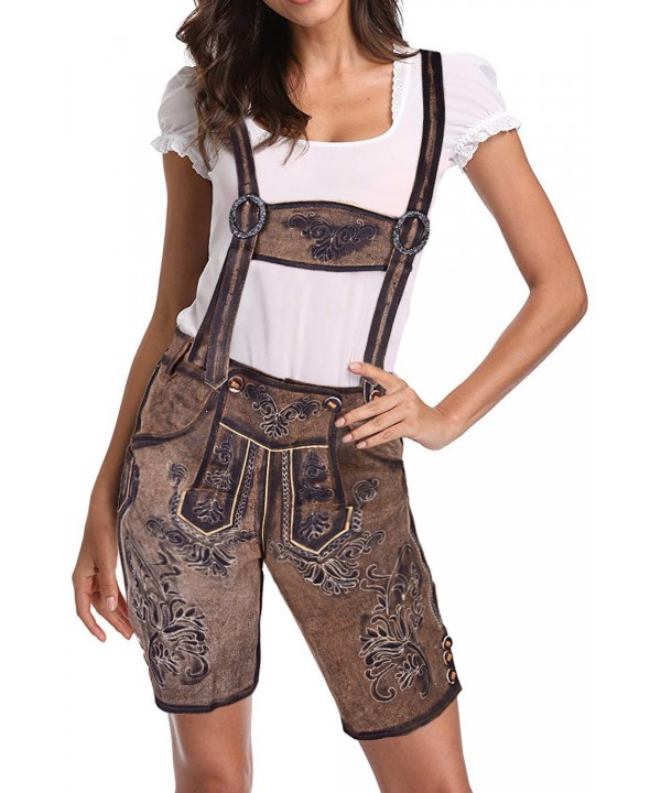 Authentic Women Lederhosen Embroidered