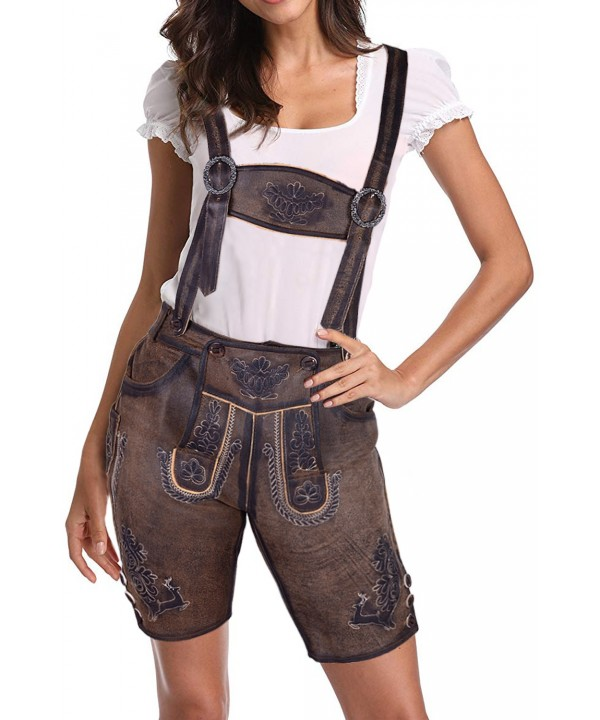 Dark Brown Women Authentic Lederhosen