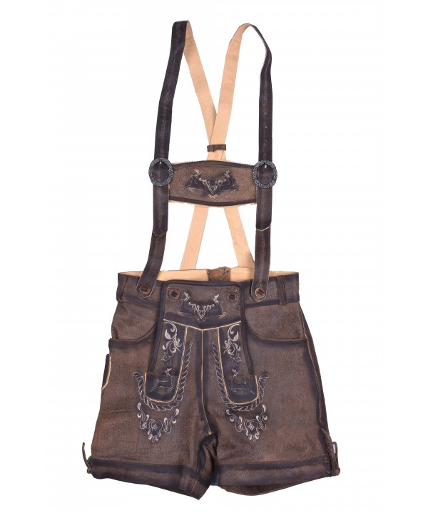 Authentic Women Lederhosen Real Shaded Brown