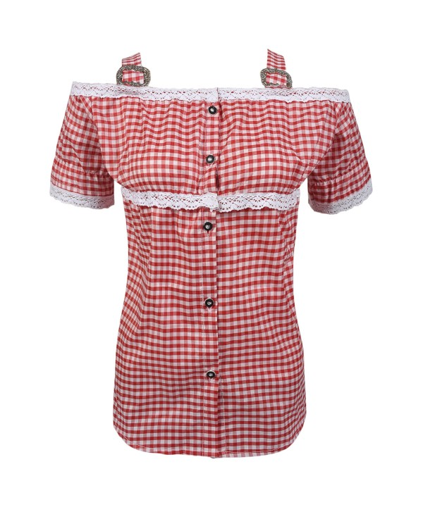 Ladies Bavarian Shirt Red