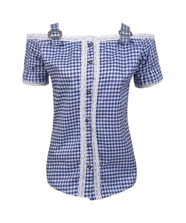 Ladies Bavarian Shirt Blue