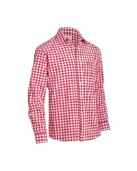 Shirt Small Checkered Dark Red