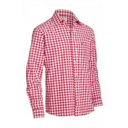 Shirt Small Checkered Dark Red