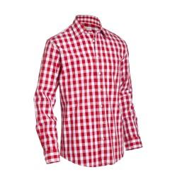 Bavarian Checkered Shirt Dark Red