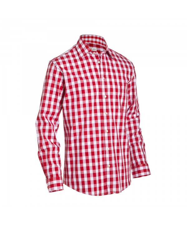 Bavarian Checkered Shirt Dark Red