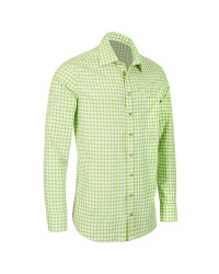 German Bavarian Slim Light Green Checkered Shirt