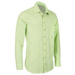 German Bavarian Slim Light Green Checkered Shirt
