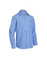 Shirt Small Checkered Cobalt Blue