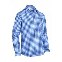 Shirt Small Checkered Cobalt Blue