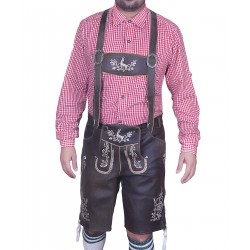 Bavarian Authentic Lederhosen Wild Brown