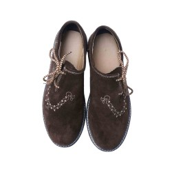 Traditional Lederhosen Shoes Dark Brown