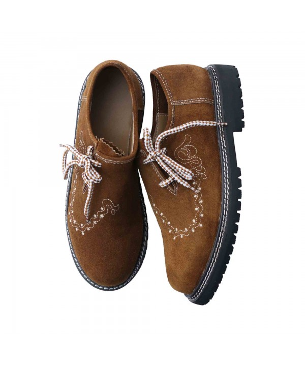 Traditional Lederhosen Shoes Camel Brown