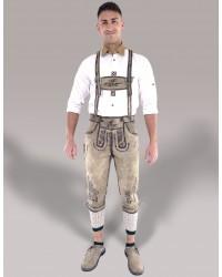 Bavarian Classic Knee Bundhosen Brown