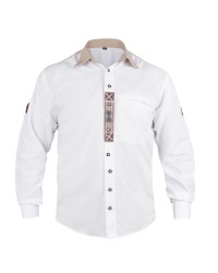 Embroidered Trachten White Shirt