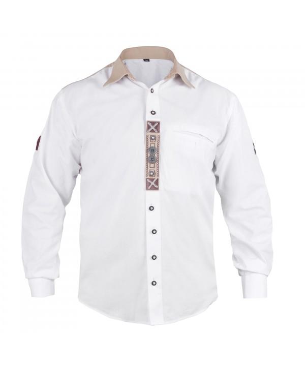 Embroidered Trachten White Shirt