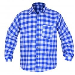 Bavarian Checkered Shirt Admiral Blue