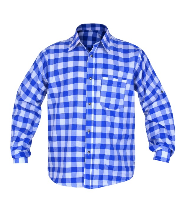 Bavarian Checkered Shirt Admiral Blue
