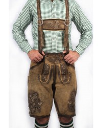 Bavarian Short Lederhosen Real Shaded Brown