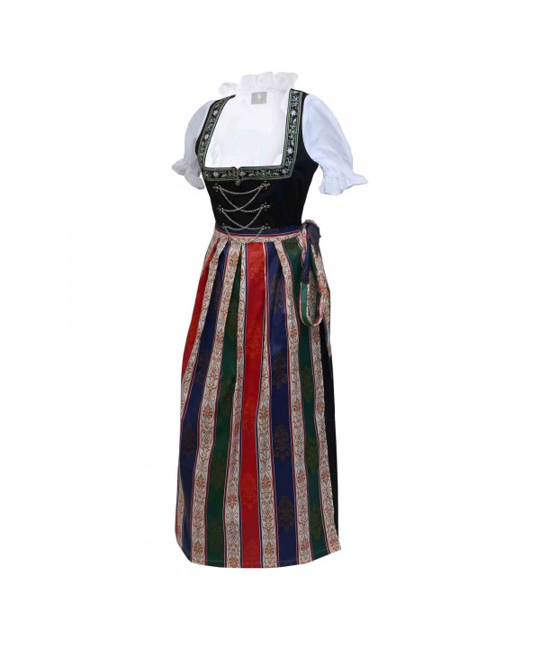 German Maxi Dirndl Long Anna Black