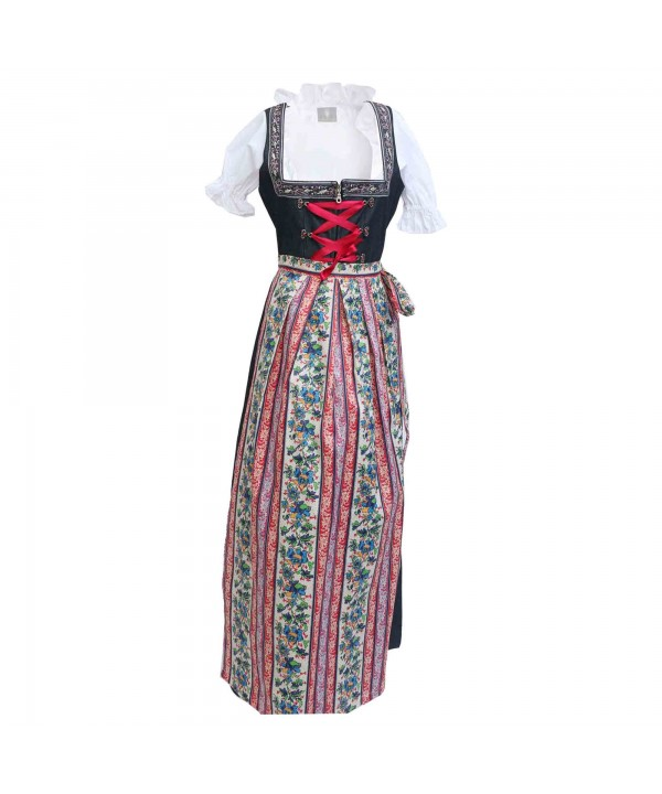 Maxi German Dirndl Long Cherry Black