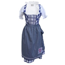 Wensky Midi Denim Dirndl Blue Check
