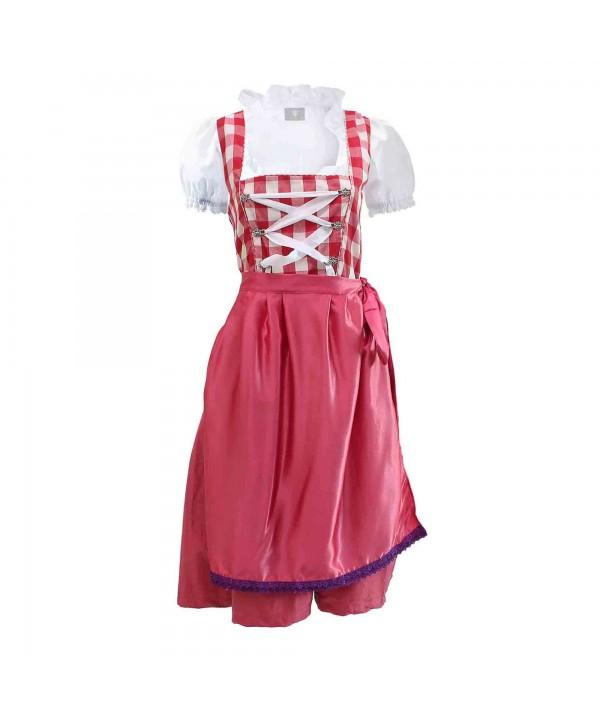 Wensky Dirndl Blossom Pink Red Check