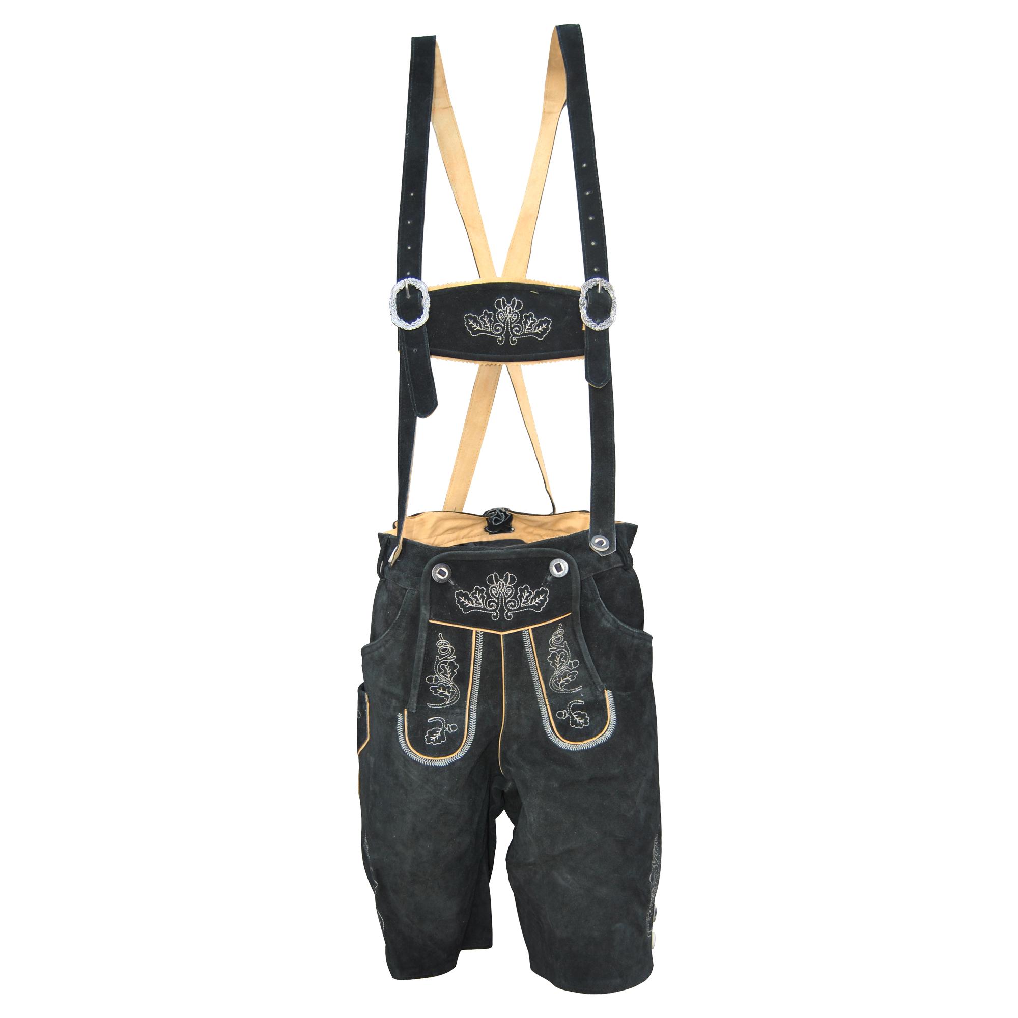ec1bacb9a0 Traditional German Lederhosen Black - Lederhosen Wears